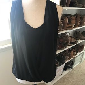 NWT Pleione Black tank with built in cami.